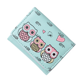 SHORT 3 OWL WALLET - MINT GREEN