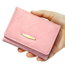 Short  Indent Wallet - Light pink