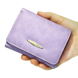 Short  Indent Wallet - Purple