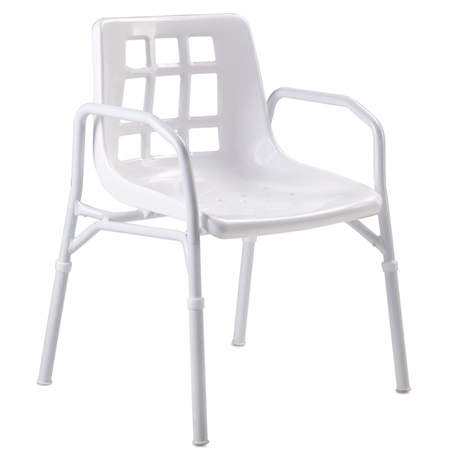 SHOWER CHAIR ALUMINIUM (MOULDED SEAT)