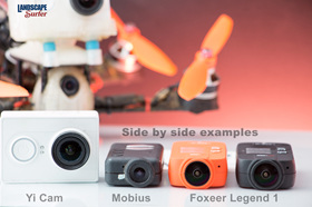 Side by side examples of common FPV recording cams - 2015
