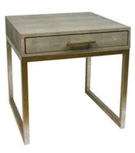 Side Table Shagreen Taupe