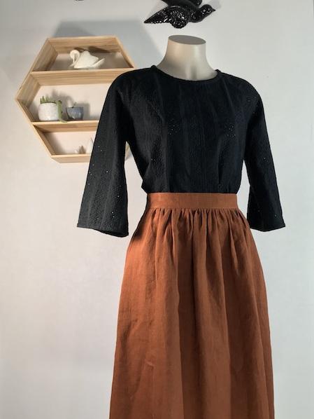 Sienna gather midi skirt