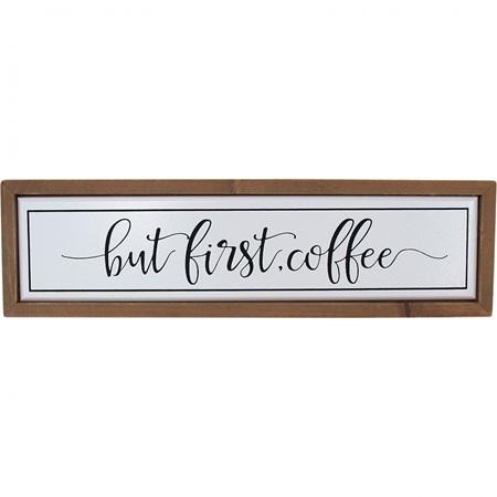 SIGN COFFEE FIRST 30.5X3x8.5Cm