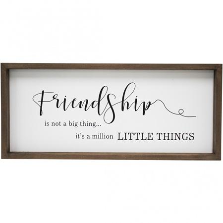 SIGN FRIENDSHIP 48X4x21cm