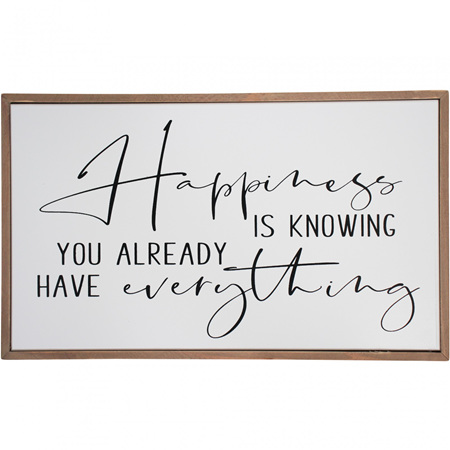 SIGN HAPPINESS 40X2.5X23cm