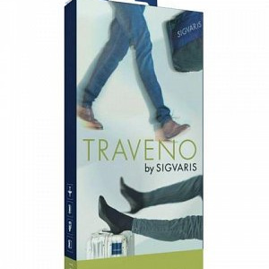 SIGVARIS Travel Sock 6 Blk EU46-47