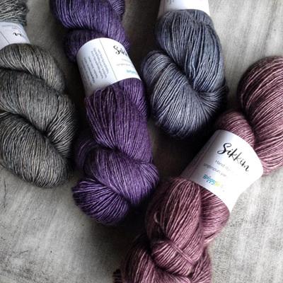 Sikkim 4ply single-spun yak/silk/merino
