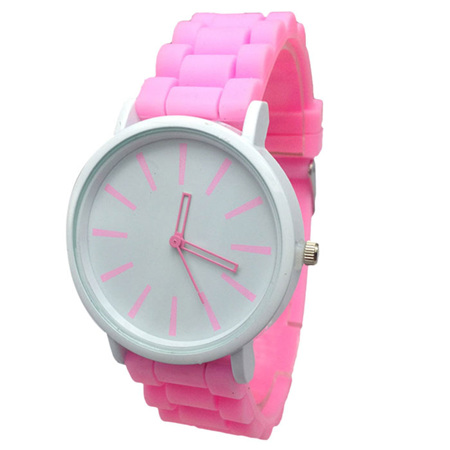 Silicone Adults Watch - Baby Pink
