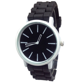 Silicone Adults Watch - Black