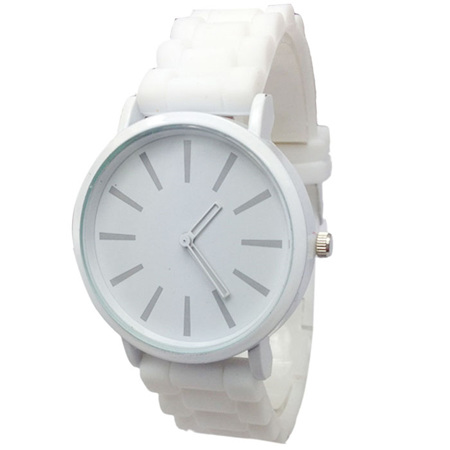 Silicone Adults Watch - White