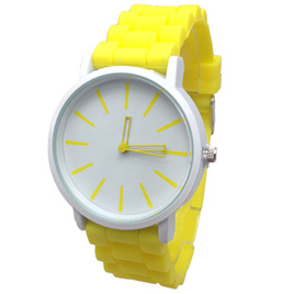 Silicone Adults Watch - Yellow