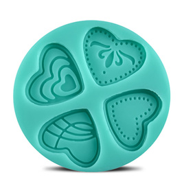 SILICONE MOULD - 4 HEART