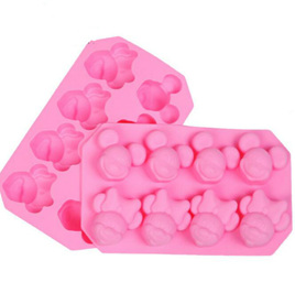 SILICONE MOULD - 8 CUBE MICKEY & MINNIE