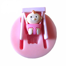 SILICONE MOULD - BABY SWINGING