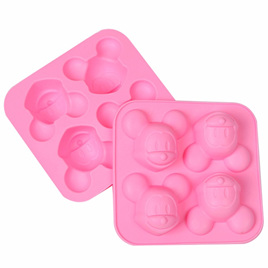 SILICONE MOULD - MICKEY MOUSE 4 CUBE TRAY
