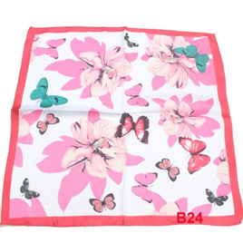 Silky Scarf - Pink Butterfly