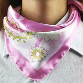 Silky Scarf - Pink Flora