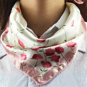 Silky Scarf *pink floral*
