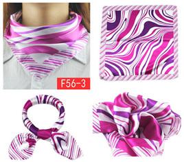 Silky Scarf - Pink Wavy Pattern