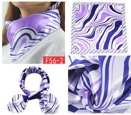 Silky Scarf - Purple Wavy Pattern