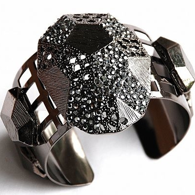 Silver and Crystal Cuff