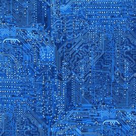 Silver Circuits Blue