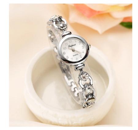 Silver Crystal Rhinestone Women's Bracelet Watch