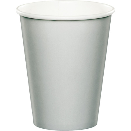 Silver cups x 24 pack