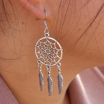 Silver Dream Catcher Earrings