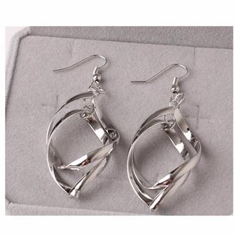 Silver Entangled Dangle Earrings