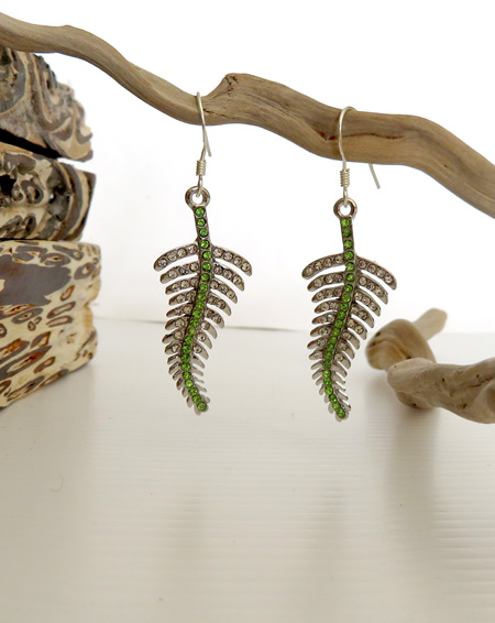 Silver Fern Earrings ER10