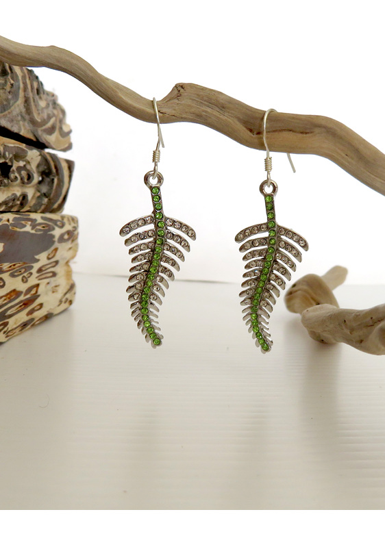 Silver fern earrings ER10