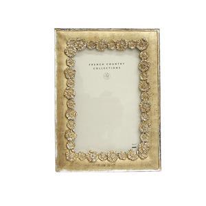 Silver Fleur Frame 4 x 6
