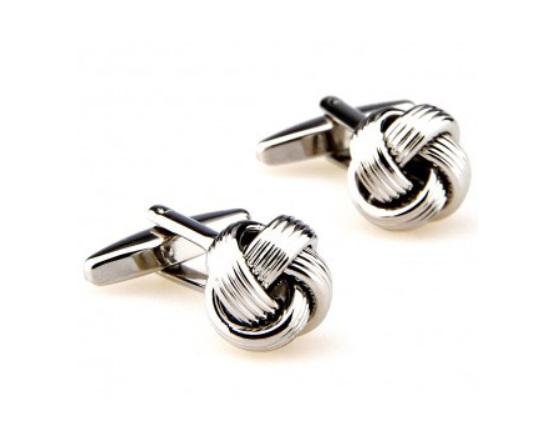 Silver Knot Cufflinks - On the Cuff