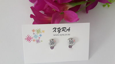 Silver Mermaid Scale Clip-on Earrings