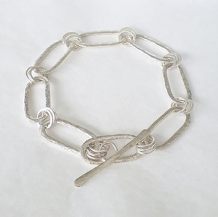 Silver Oval & Round Linked Bracelet
