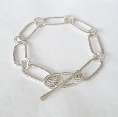 Silver Oval & Round Linked Bracelet