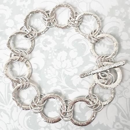 Silver Round Link Chain Bracelet