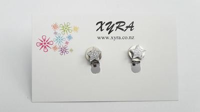 Silver Star Clip-on Earrings