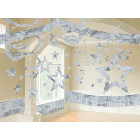 Silver Star  giant room decoration