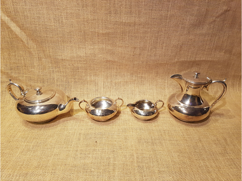 silver tea set wedding and event hire