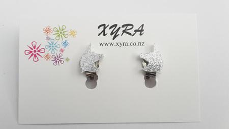Silver Unicorn Clip-on Earrings