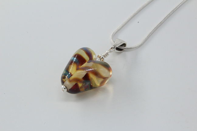 Silvered heart - smoky metallic