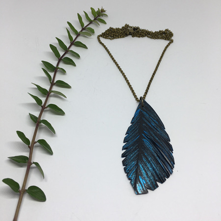 Silvereye Necklace with Blue
