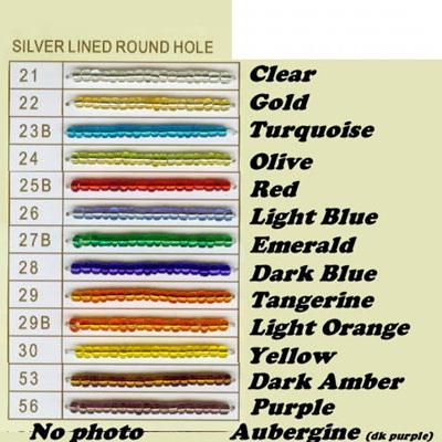 Silverlined Seed Beads 6/0 - Light Orange