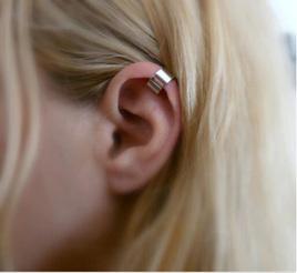 Simple Ear Cuff - Silver