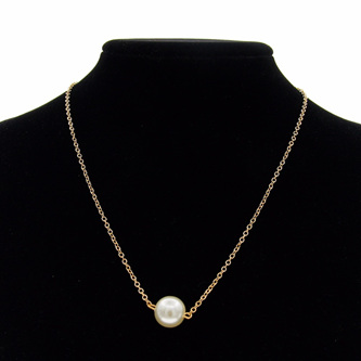 Simple Imitation Pearl Necklace