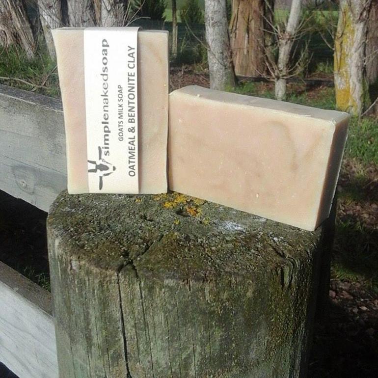 Simple Naked Soap Goat Milk Oatmeal Benotnite Clay