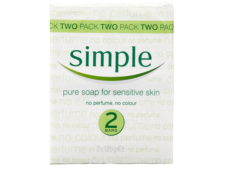 SIMPLE SOAP TWIN PK 125G